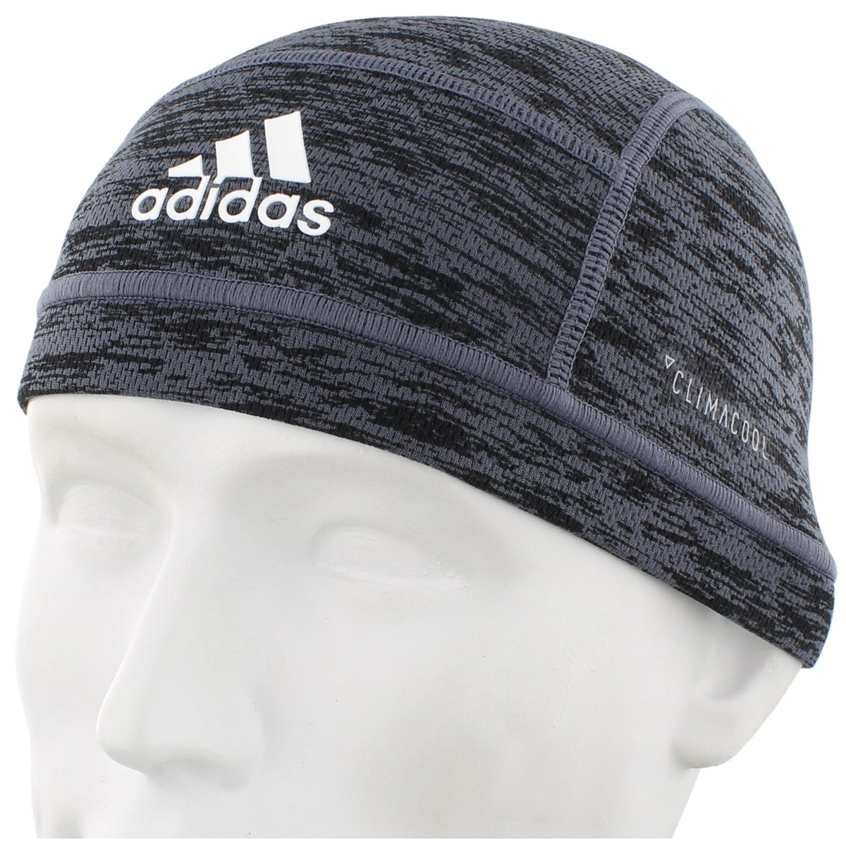 adidas Unisex Football Skull Cap, Black Spacedye Print, One Size