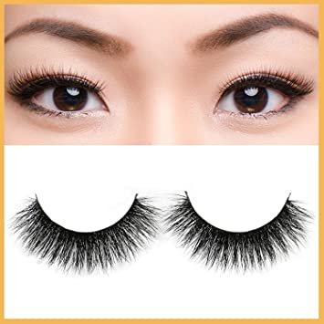 e3c62f8d08a Amazon.com : MyM 3D Mink False Eyelashes 100% Siberian Mink Fur Handmade  Fake Lashes Thick Cross Style Reusable (009) : Beauty