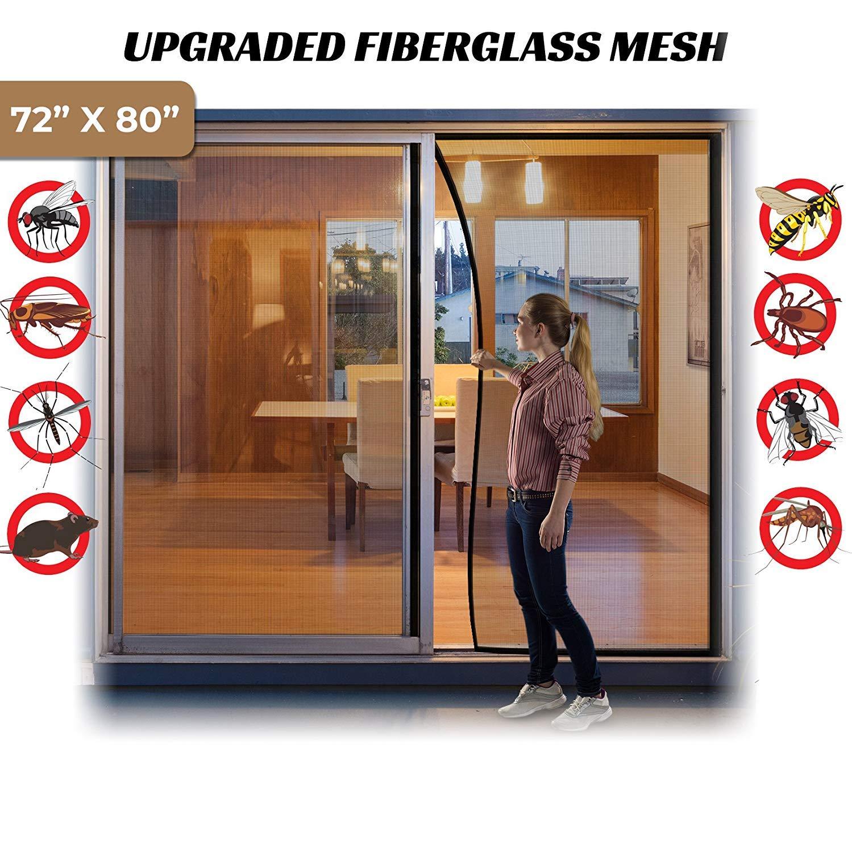 Surpass 72w X 80h Magnetic Screen Door For French Doors