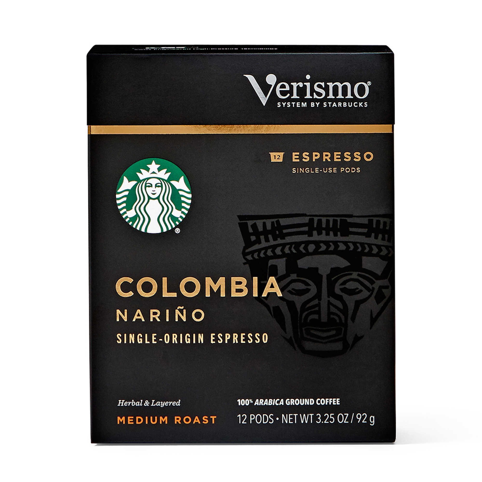 Starbucks Single Origin Colombia Narino Espresso Verismo Pods 12