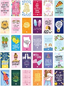 """bloom daily planners Love Note Card Deck - Cute Sentimental Quote Cards - Set of Thirty 2"""" x 3.5"""" Cards - Assorted Designs"""