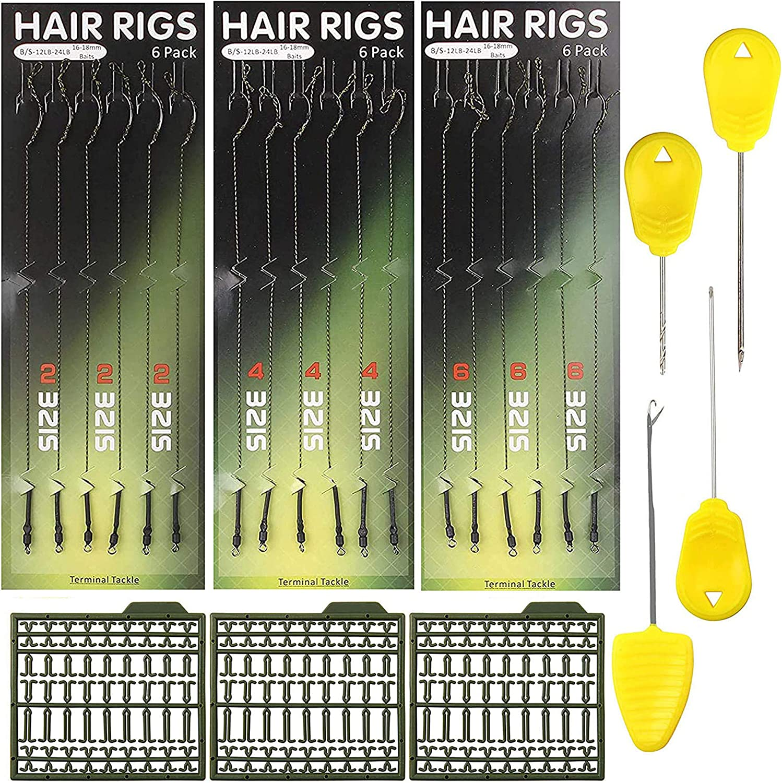240X Clear Hair Rig Angeln Boilie Stoppt Dumbell Bait Rig Karpfen Stoppt AB RSFD