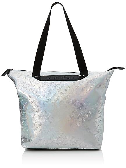 6bc86092f9 Calvin Klein Jeans City To Beach Shopper, Women's Tote, Silver (Neutral Mix)