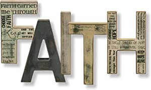 """Hearthside Collection F A I T H-Free Standing Letters (5 Letters) (8"""")"""