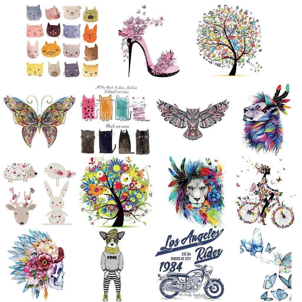 Hergon Lovely Arbre patches pour enfants Clothe de DIY Stickers 133/# Iron on Patch badge Applique pour sac Chapeau Jeans Patch Applique D/écor