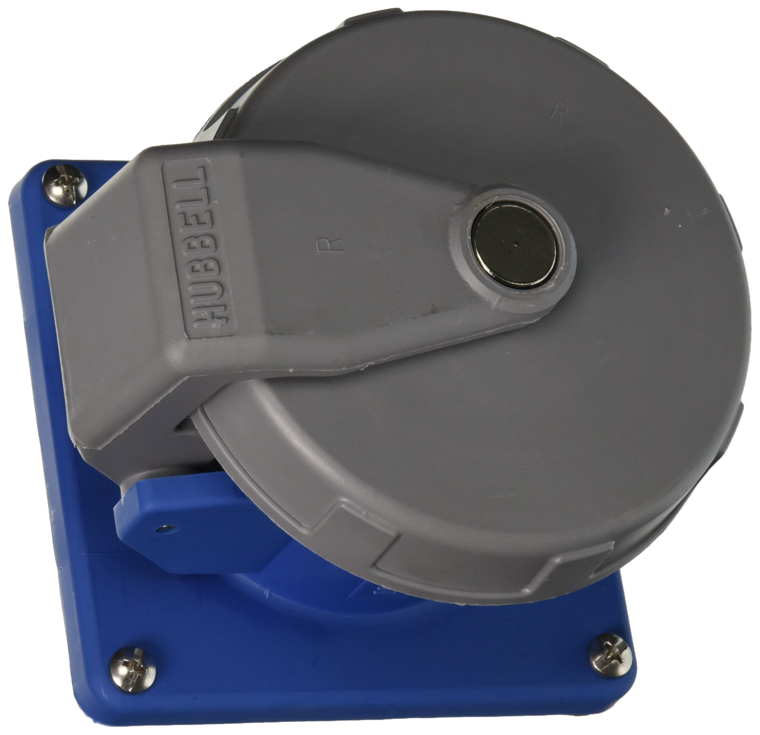 Hubbell HBL360R6W Pin and Sleeve IEC Receptacle, 2 Pole, 3 Wire, 60 amp, 250V, Watertight