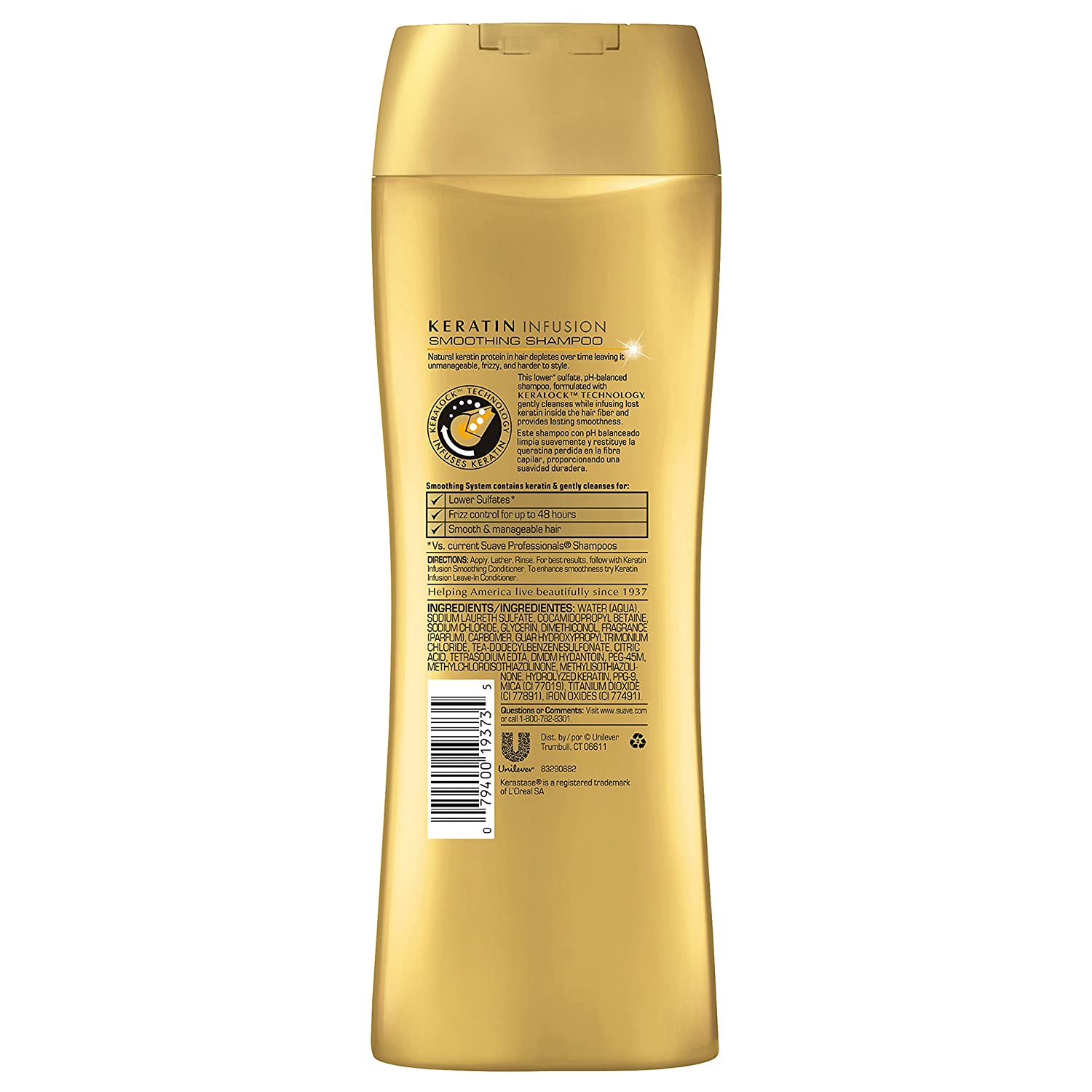 Amazon.com : Suave Professionals Smoothing Shampoo, Keratin Infusion 12.6 Ounce, (Value Pack of 6) : Beauty