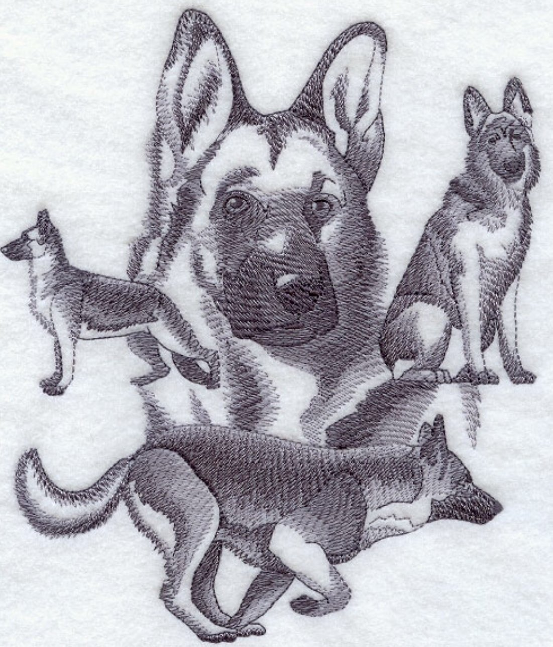 German Shepherd Custom Embroidered Sweatshirt Shirt