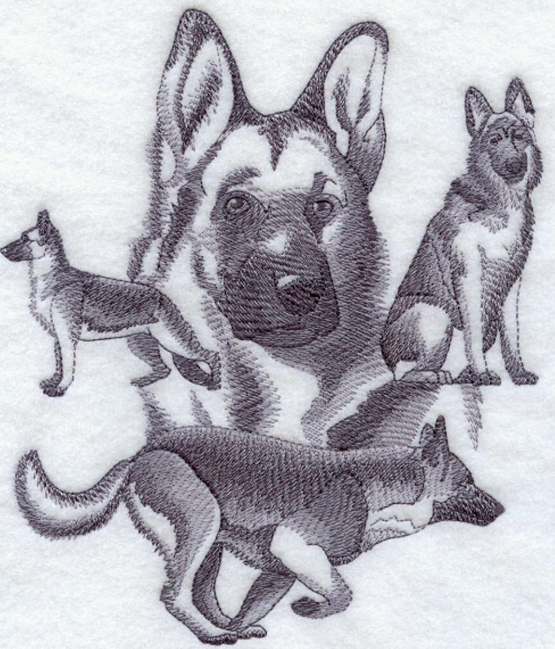 German Shepherd Custom Embroidered Sweatshirt Shirt