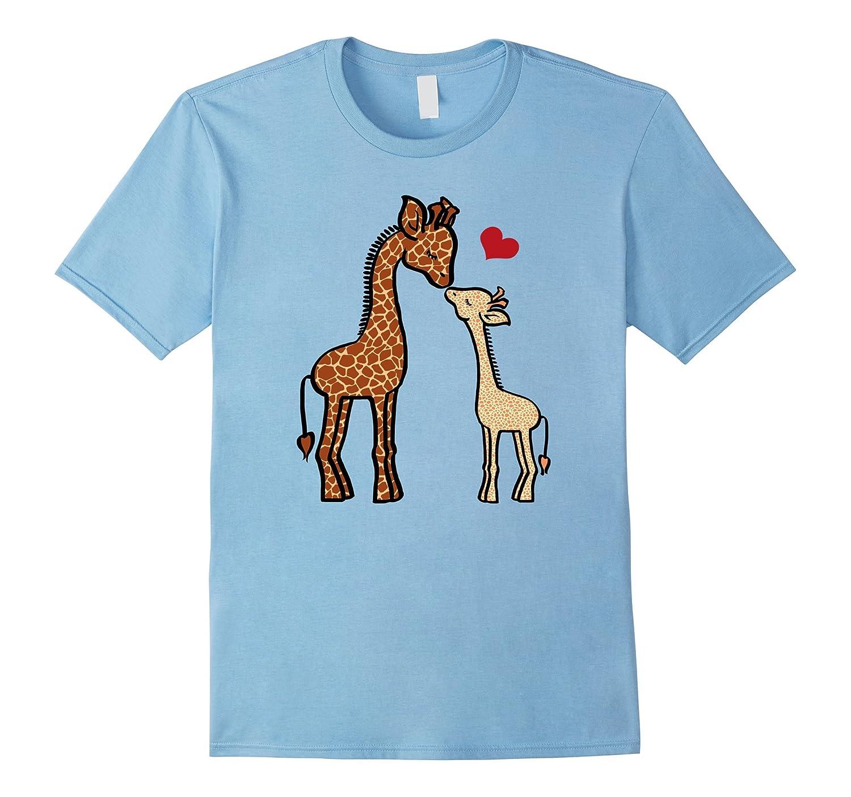 April the Giraffe Birth T-shirt - Mothers Day Shirt-TD