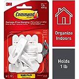 Command Small Utility Hooks, White, 6-Hooks (17002-6ES), Organize your dorm
