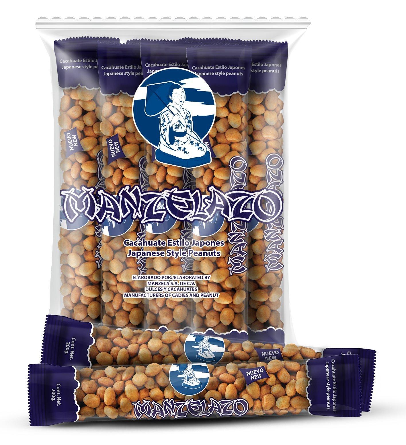 Manzela Japanese Style Peanuts 10 count 6.35oz. each / Cacahuates Estilo Japonés 10pz de 180grs
