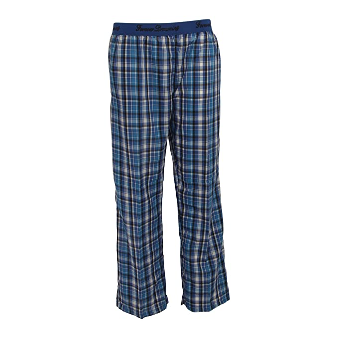 Forever - Pantalón de pijama a cuadros para mujer (S/Azul)
