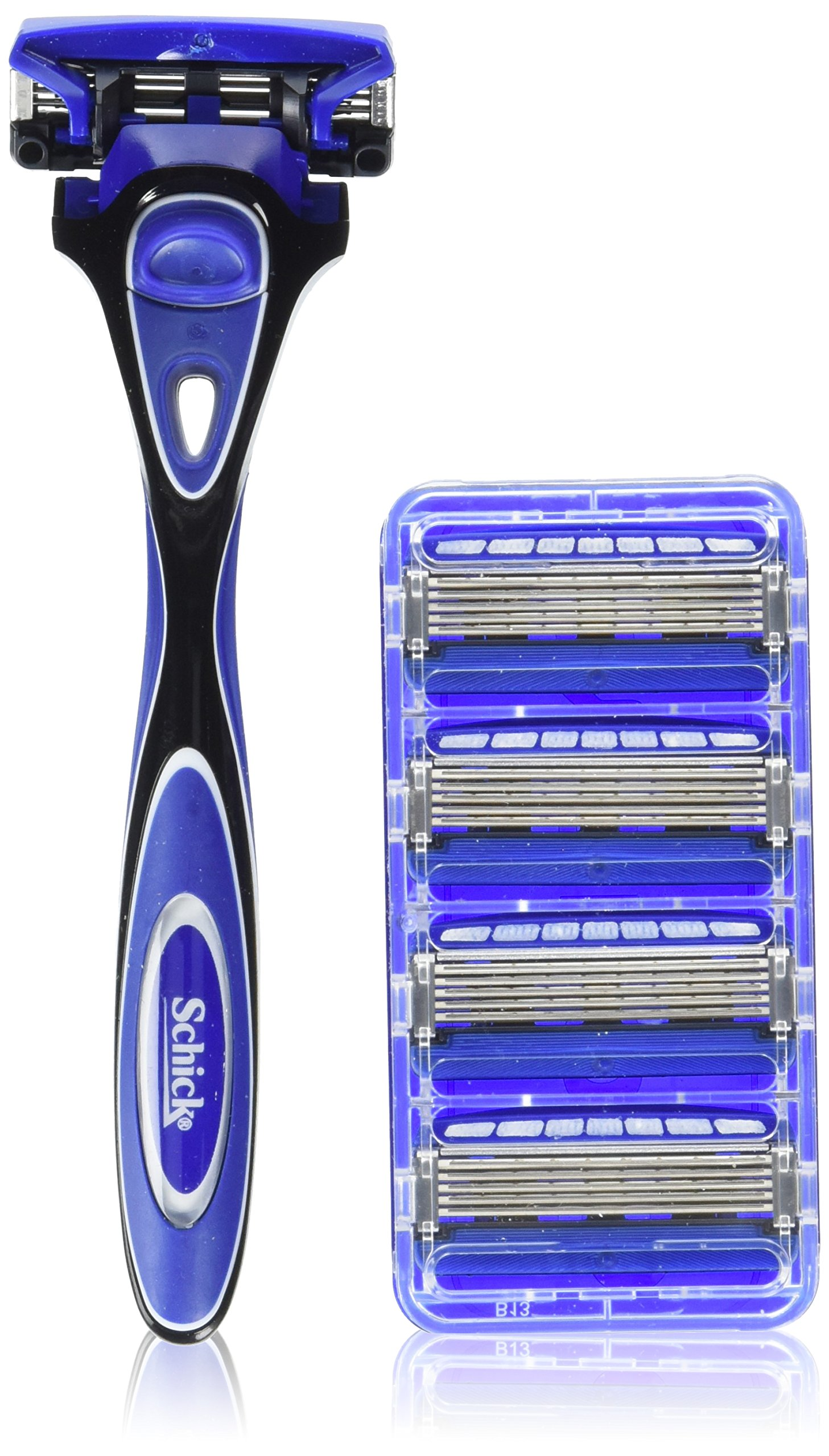 Schick Hydro 5 Shaving Starter Gift Set for Men with 1 - Hydro 5 Razor for Men and 5 - Hydro 5 Razor Blade Refills for Men