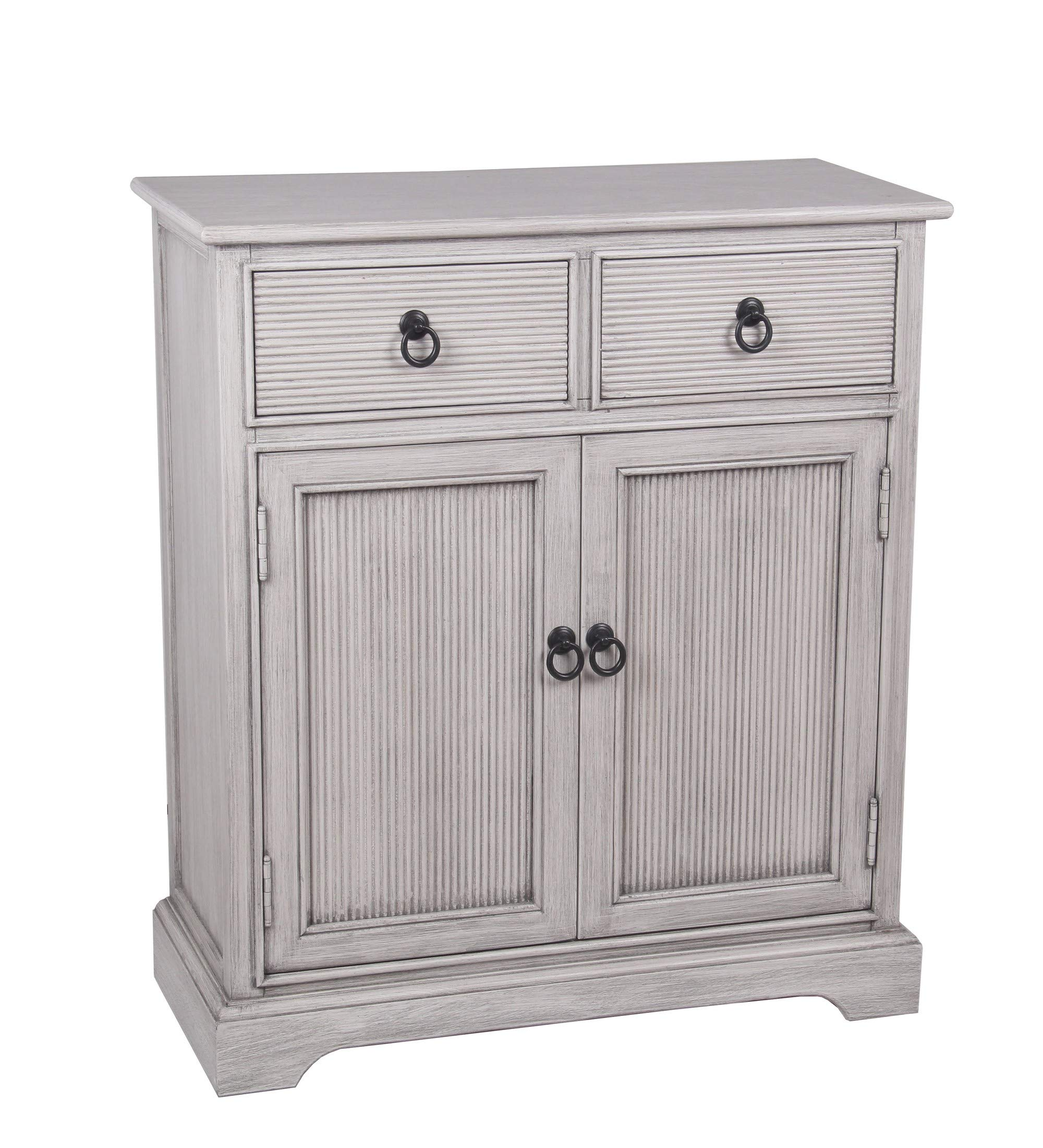 Privilege Winter Stone 2 Drawer and 2 Door Accent Chest 28633 by Privilege