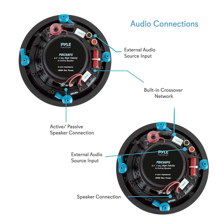 65 Ceiling Wall Hi Fi Speakers 2 Way Full Range Loudspeaker System Crossover Network Schematic Design Speaker Pair Built In Electronic Flush Mount W 55hz 22khz