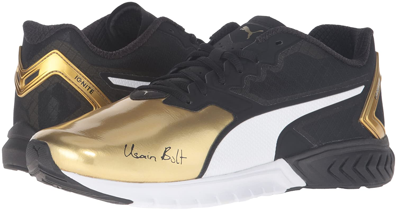Exklusiv Puma IGNITE Dual Bolt Running Schuhe schwarzes Gold