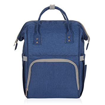 dc81c829a818 Amazon.com  Hynes Eagle Water Resistant Diaper Backpack Multipurpose Baby  Travel Bag for Dad or Mom Navy Blue  Hynes Eagle