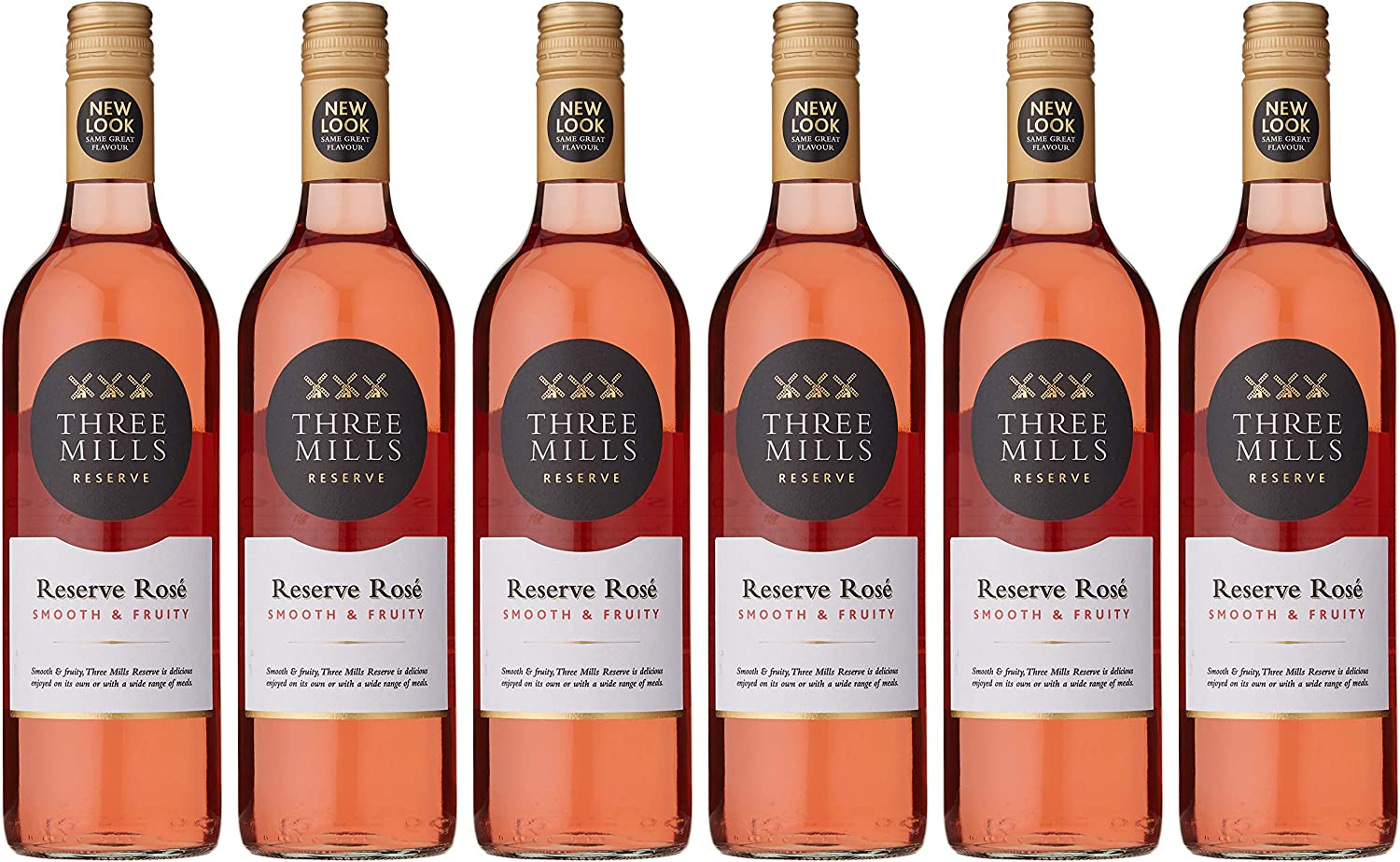 Broadland Wineries – Three Mills Reserve Rose Wine, 75 cl Case of 6