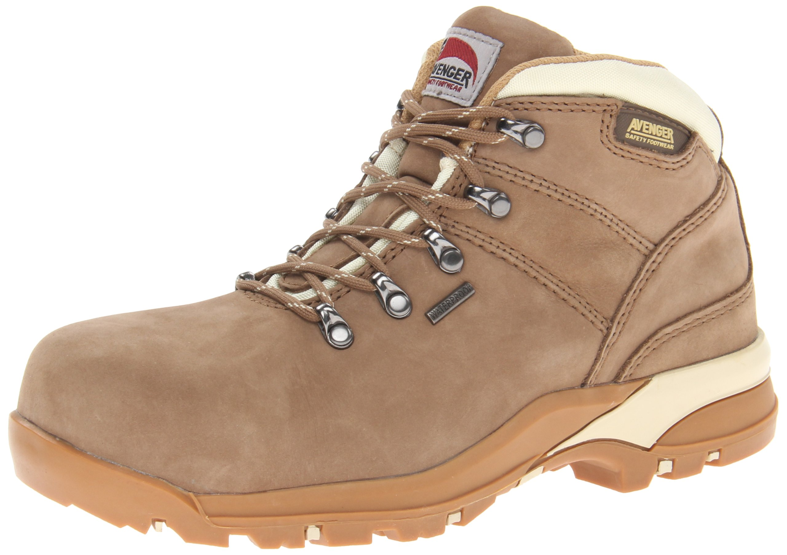 Avenger Safety Footwear Women's Hiker Boot,Tan Nubuck,7 M US