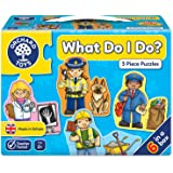 Orchard Toys Jigsaw Puzzle (Early Learning) - What do I do? (3 piece puzzles)