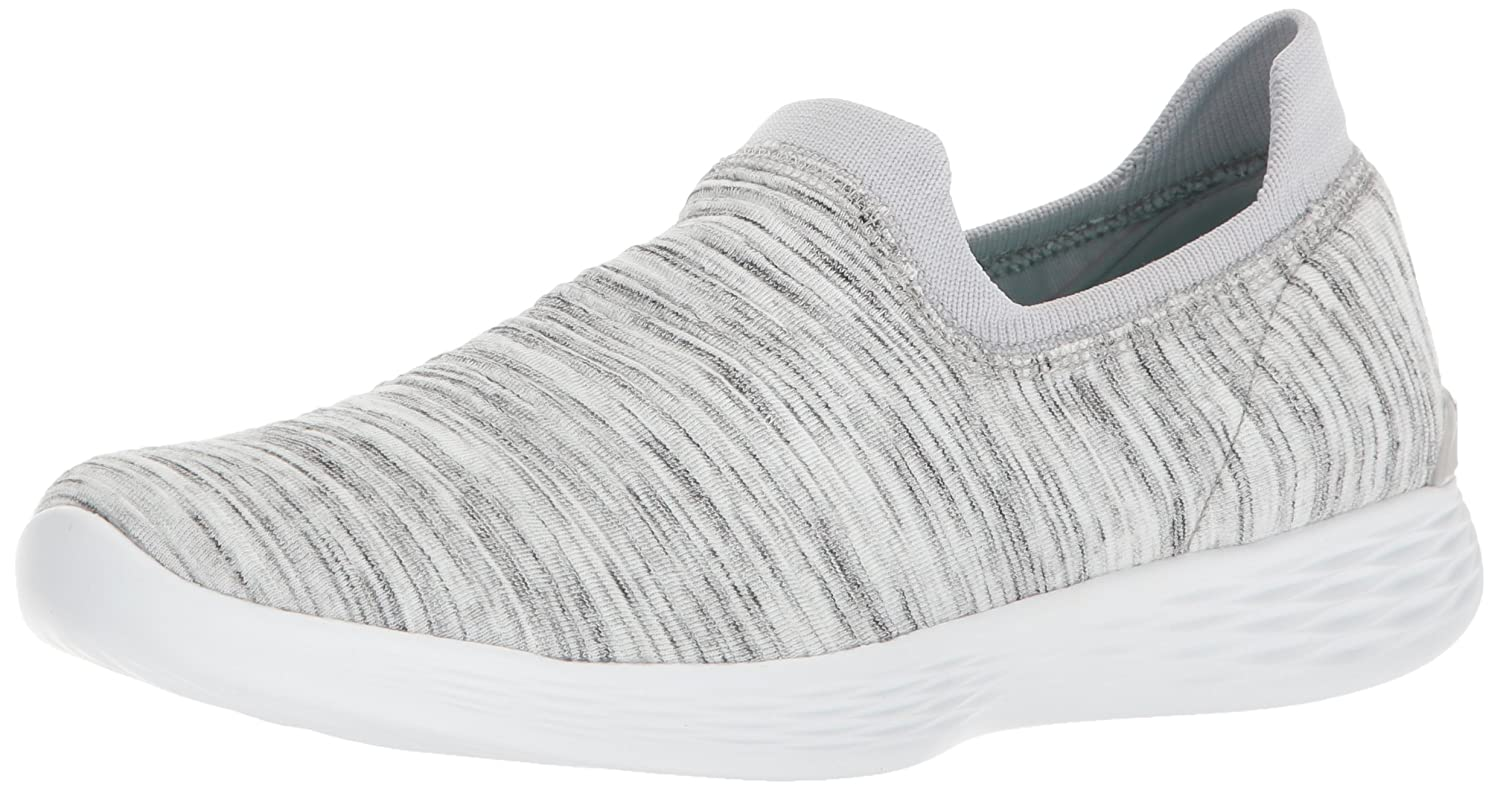 Skechers Ladies You Grace Weiß grau Slip on Walking schuhe Trainers 14971 14971-UK 5 (EU 38)