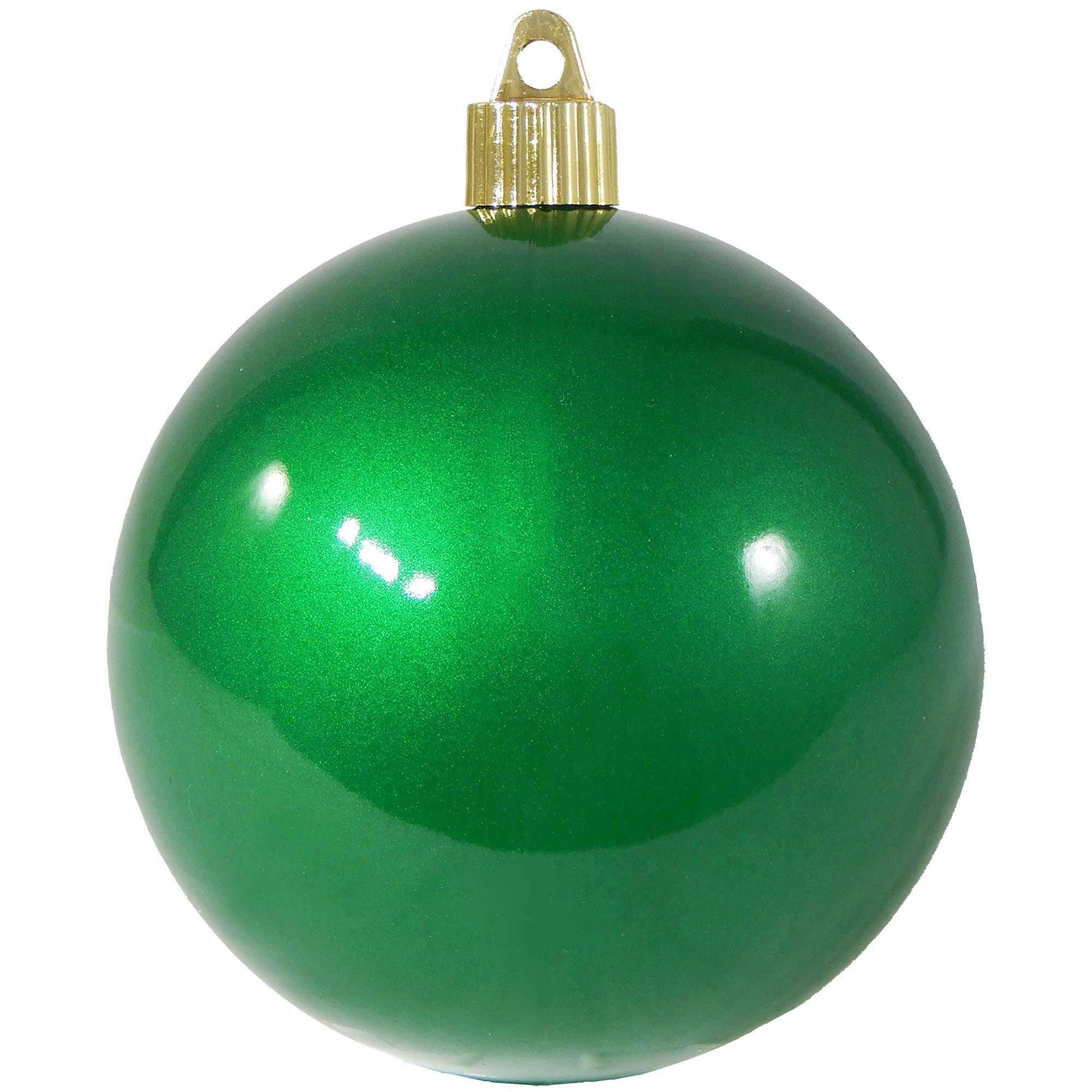 Christmas By Krebs CBK72976 Shatterproof UV-Resistant Christmas Ball Ornaments 4'' Candy Green 48 Piece