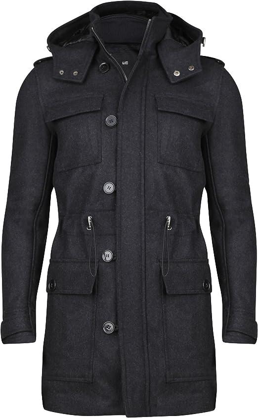 WE Fashion Herren Jacke 77472526 Schwarz L: