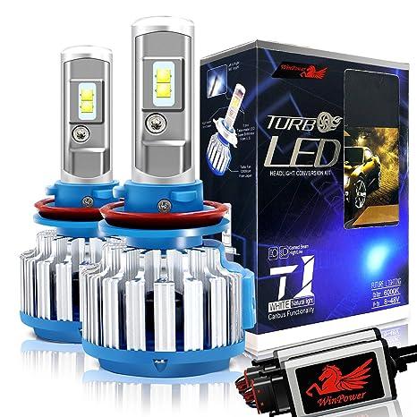 WinPower Bombillas LED H11 / H8 / H9 Faro Todo en uno Kit de conversión 70W