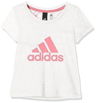 Adidas niña Essentials Performance Logo - Camiseta: Amazon.es: Deportes y aire libre