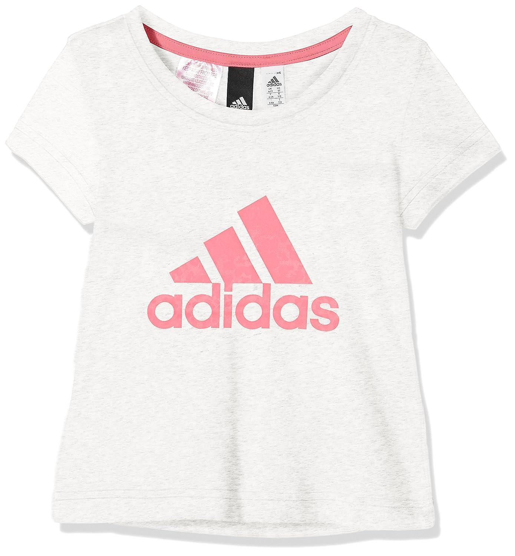 Camiseta adidas Essentials Performance Logo blanco niña