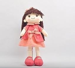 Linzy Toys Muñeca De Trapo y Tela Perlita Color Rojo