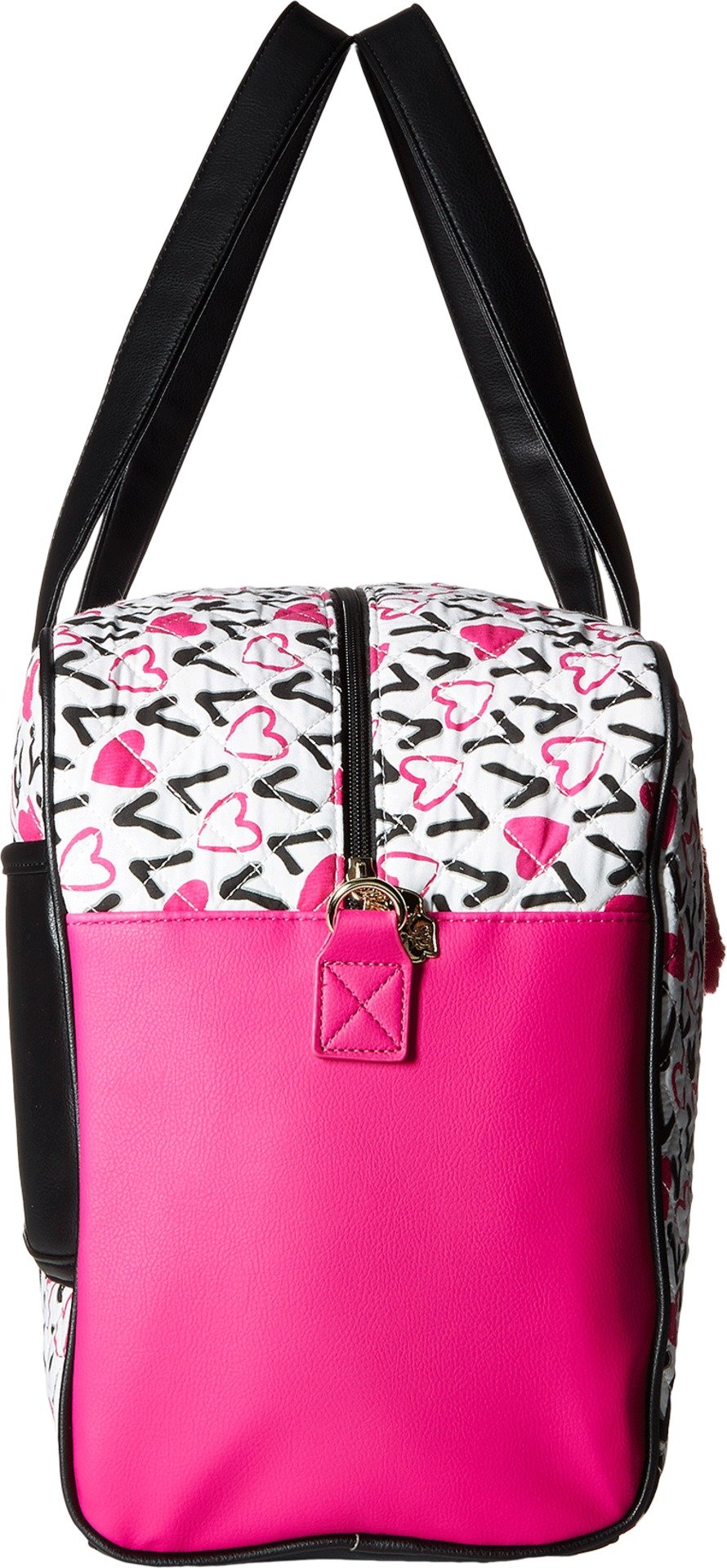 Luv Betsey Women's Cruzin Cotton Weekender w/A Luggage Pass Through On The Back Love Pink-Az One Size by Luv Betsey (Image #3)