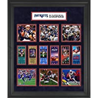 """$129 » New England Patriots Framed 23"""" x 27"""" 6-Time Super Bowl Champion Ticket Collage - NFL Team…"""