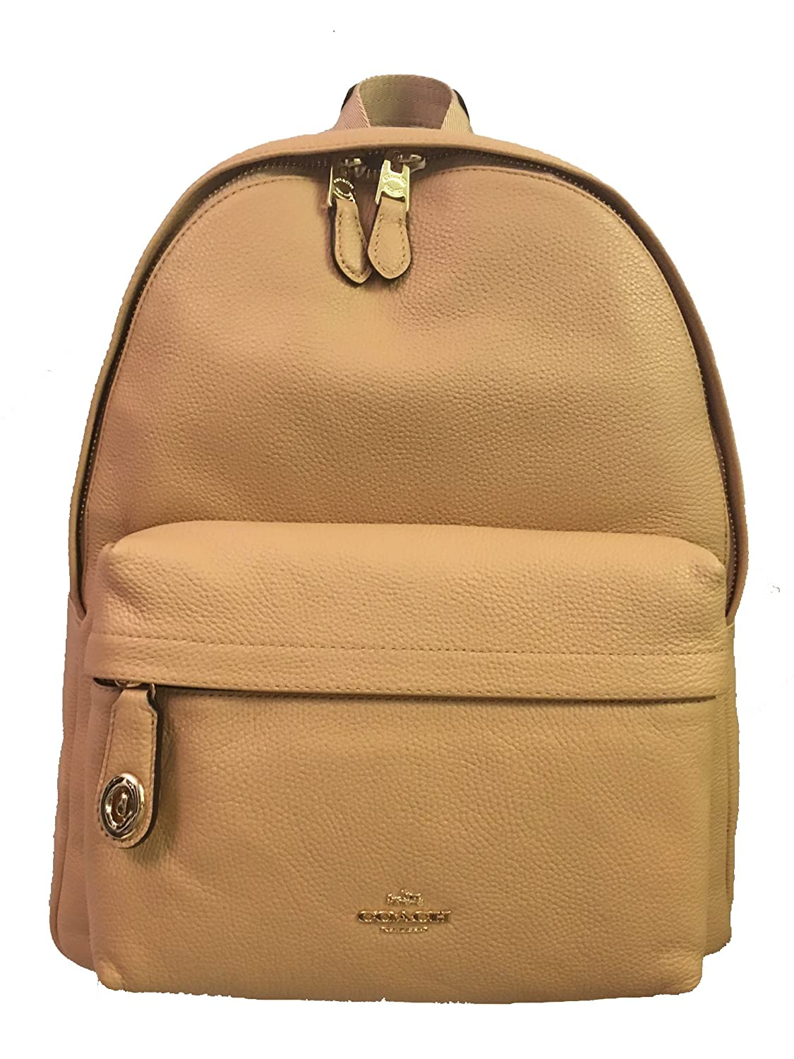 5eede8ff17f03 Amazon.com  Coach Polished Pebbled Leather Campus Backpack Gold Beechwood  Model 37770 LIEQO  Shoes