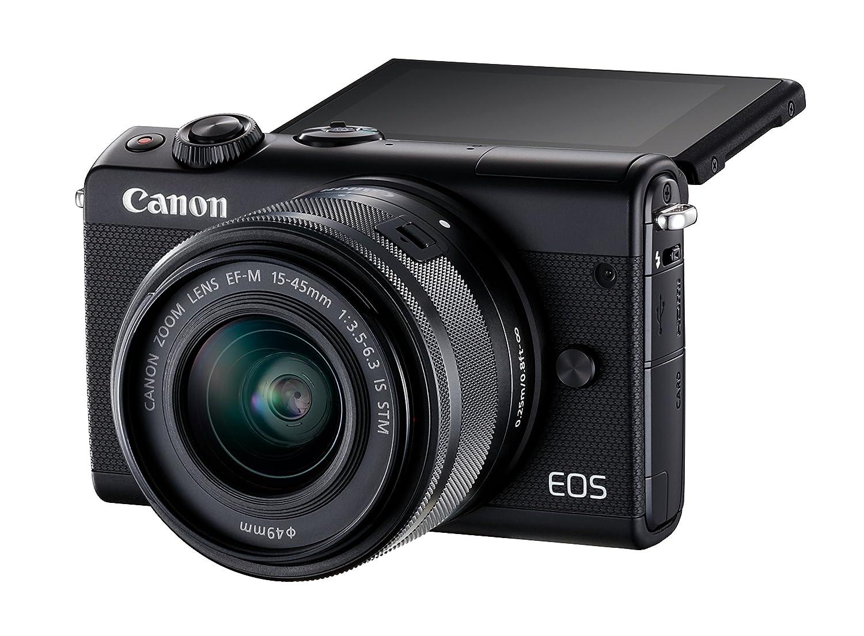 Canon EOS M100 MILC 24,2 MP CMOS 6000 x 4000 Pixeles Negro: Amazon ...
