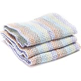 Full Circle Tidy Dish Cloths (Set of 3), Bamboo Multicolour, 30.4x30.4x2.5 cm