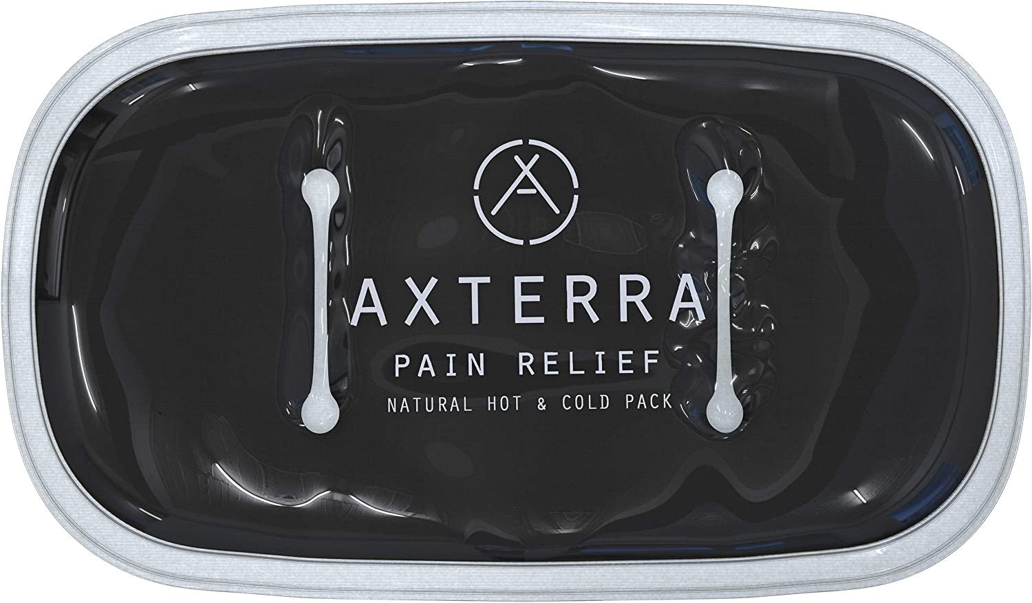 """Axterra All Natural 11"""" x 7"""" Hot and Cold Clay Packs for Pain Relief with a Soft Felt Backing for Superior Comfort"""