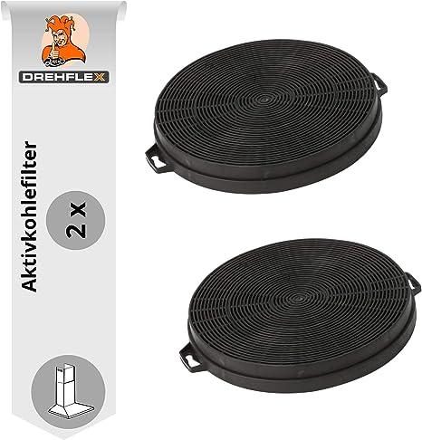DREHFLEX - AK01-2 - 2 filtros de carbón 210mm de diámetro para campana, campana, campana extractora de humos: Amazon.es: Grandes electrodomésticos