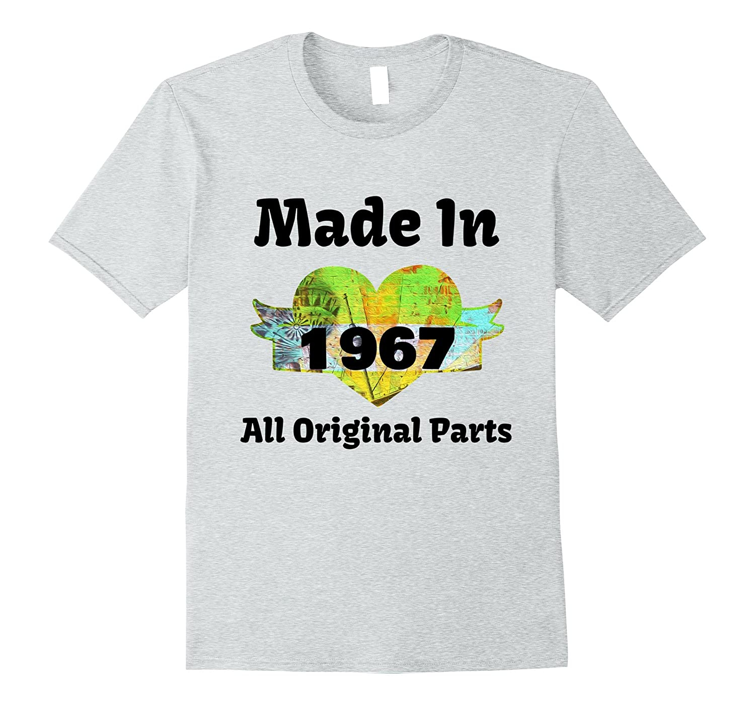 cf560316b 50th Birthday Gift Made 1967 All Original Parts T-shirt-PL – Polozatee