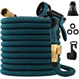 kegemor Expandable Garden Hose 100ft Upgraded,Flexible Lightweight Water Hose With 9 Way Spray Nozzle,Durable 4-layer…