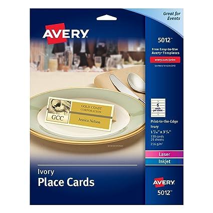 Amazon Avery Ivory Place Cards Laserinkjet Printers 1 716
