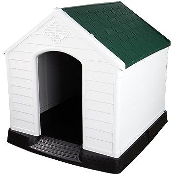 Caseta de plástico para perro, resistente a la intemperie, extra grande, para uso