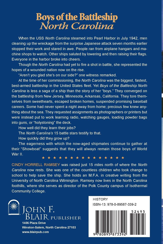 Amazon: Boys Of The Battleship North Carolina (9780895873392): Cindy  Horrell Ramsey: Books