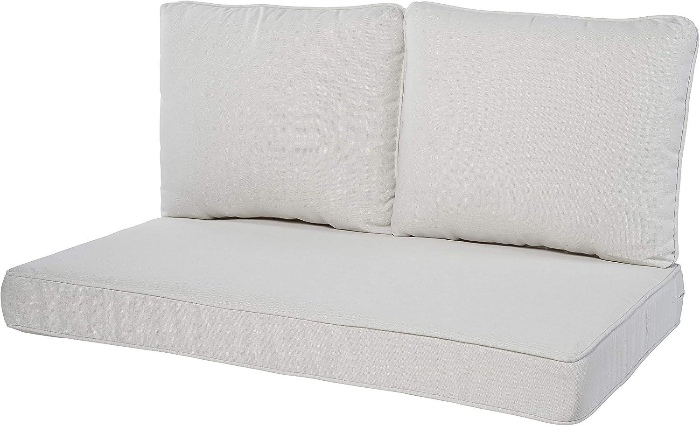 Quality Outdoor Living 29-LN02LV Loveseat Cushion, 46 x 26 3PC, Linen