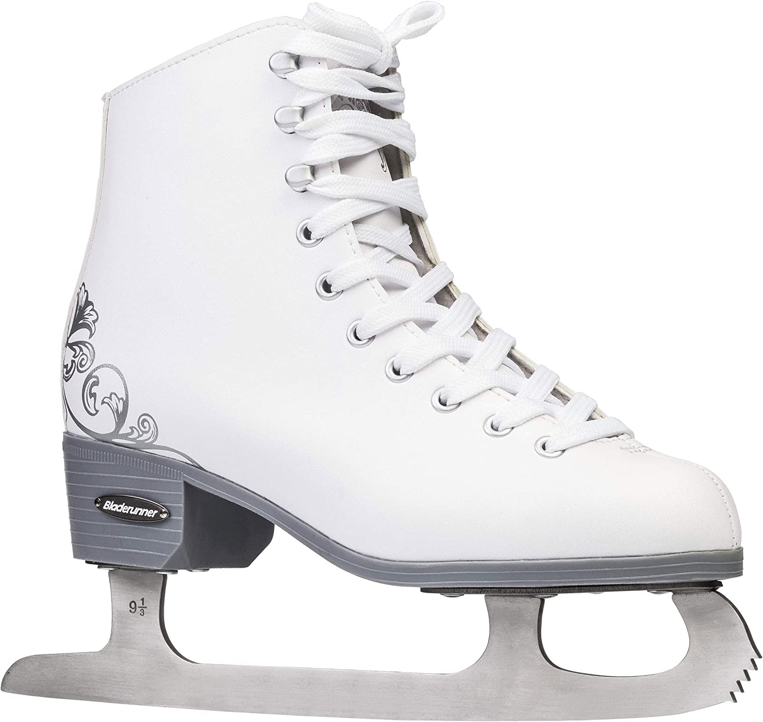 Amazon Com Rollerblade Bladerunner Ice Allure Girls Figure Skate White Ice Skates Sports Outdoors