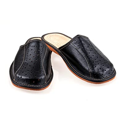 Clothing, Shoes & Accessories Brown Leather Mens Slippers Handmade Mens Slippers Mens Sandals Leather Slipper 100% Original Slippers