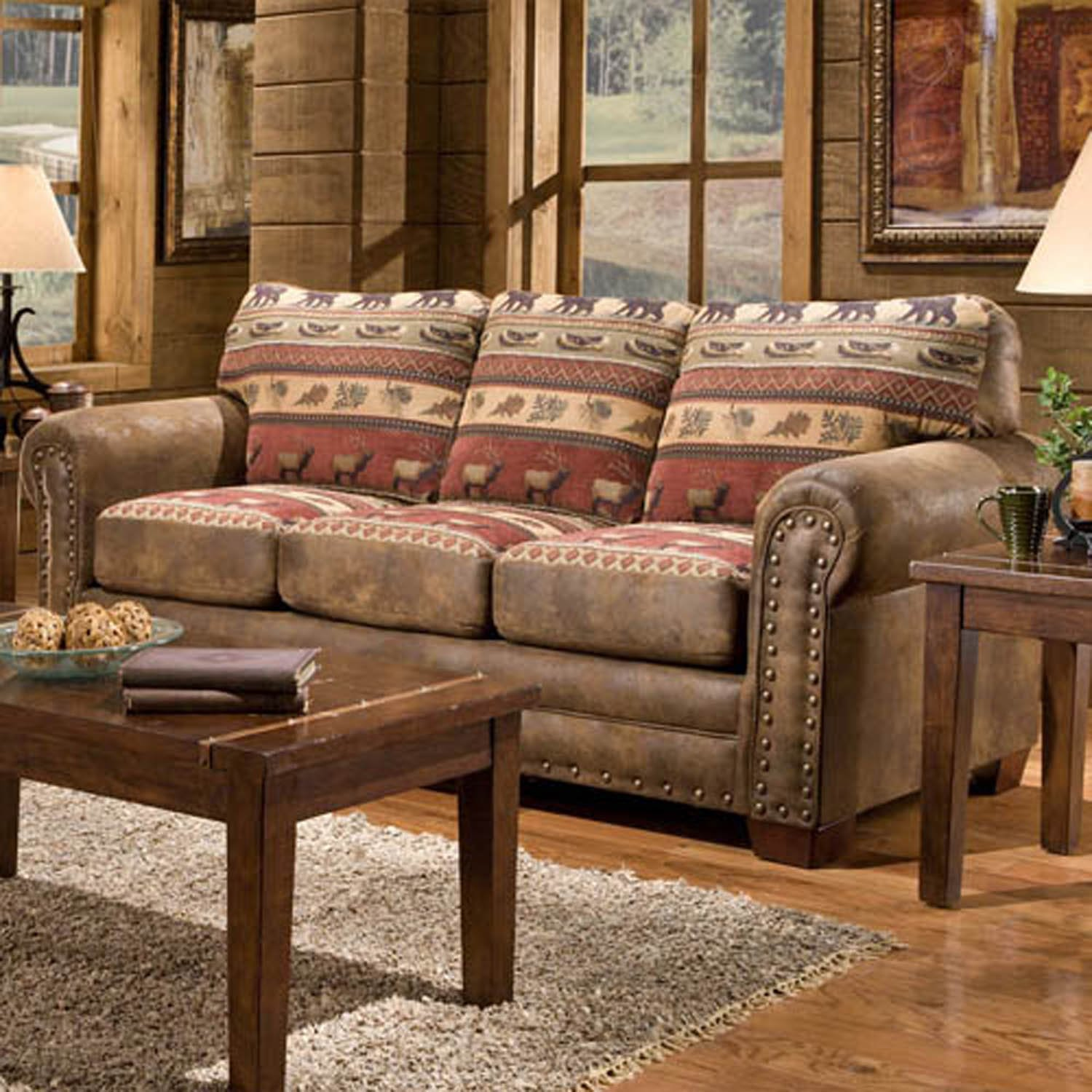 Amazon.com: American Furniture Classics Sierra Lodge Sleeper Sofa ...