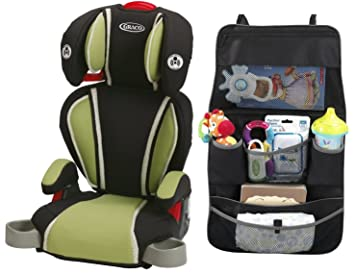 Graco Highback TurboBooster Booster Car Seat With Backseat Organizer Go Green