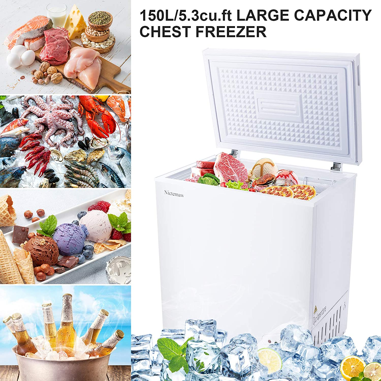 Amazon Promo Code for Compact Freezer Mini Freezer with Removable Basket Adjustable Thermostat